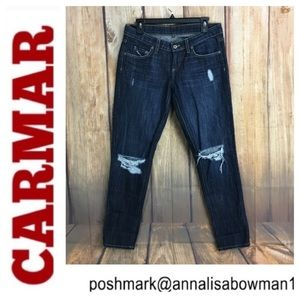 🐞Carmar Straight Leg Distressed jean size 27